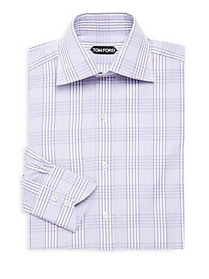 Windowpane Check Dress Shirt