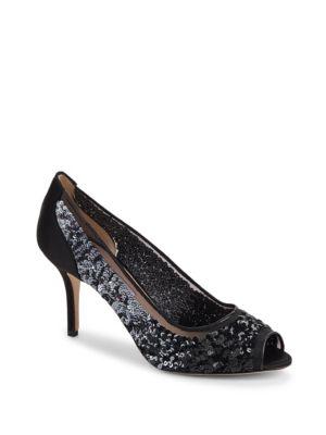 Transpa Sequin-Embellished Sandals Oscar de la Renta