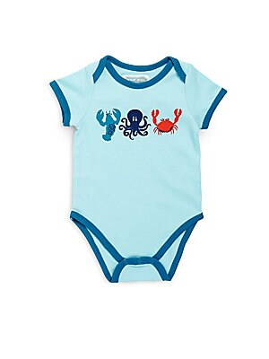 Baby's Cotton Base Sea Creatures Bodysuit