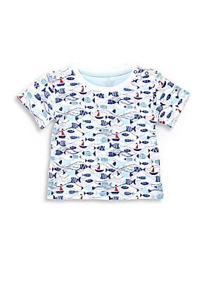 Baby's Fish-Print Cotton Tee