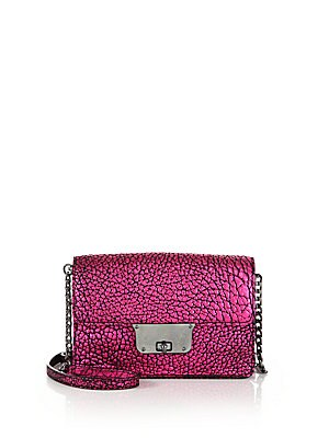 Astor Metallic Pebbled Leather Crossbody Bag