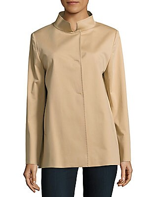 Solid Stretchable Coat