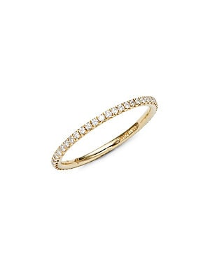 Pave Eternity Diamond Stackable Ring