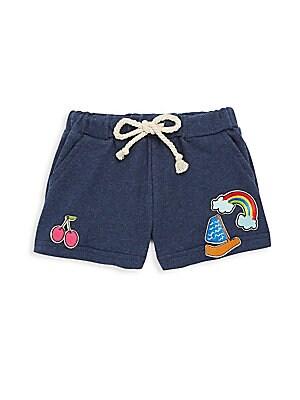 Little Girl's & Girl's Drawstring Applique Shorts