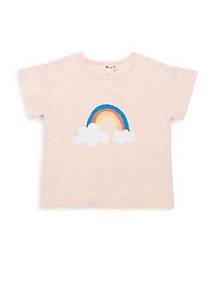 Little Girl's & Girl's Rainbow Tee