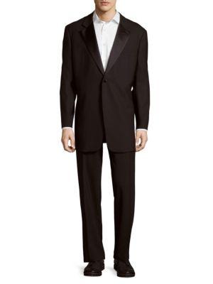 Solid Notch-Lapel Suit