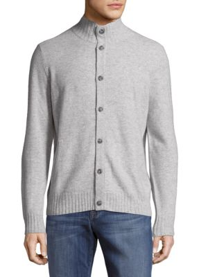 Buttoned Cashmere Sweater Saks Fifth Avenue