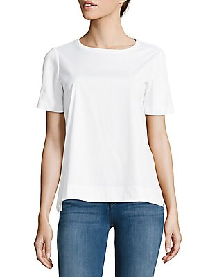 Solid Short-Sleeve Top