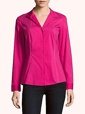 lafayette 148 new york female zoey buttonfront blouse