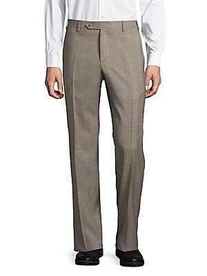 Parker Wool Plaid Pants