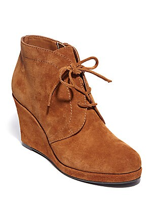 Pace Suede Wedge Booties