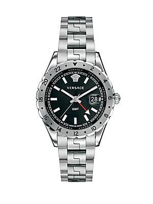 Hellenyium GMT Stainless Steel Bracelet Watch