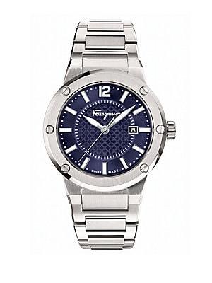 Mens F-80 Stainless Steel Bracelet Watch