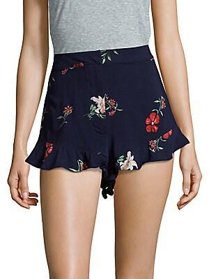 Ruffle Cuff Shorts