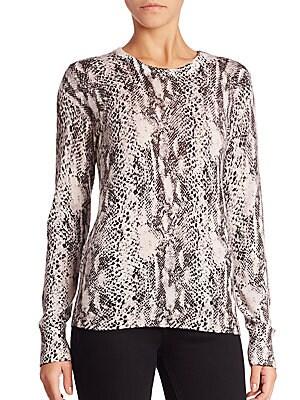 Ondine Jungle Boa Printed Sweater