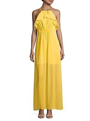 Ruffled Halterneck Dress