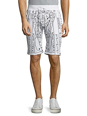 French Terry Printed Shorts