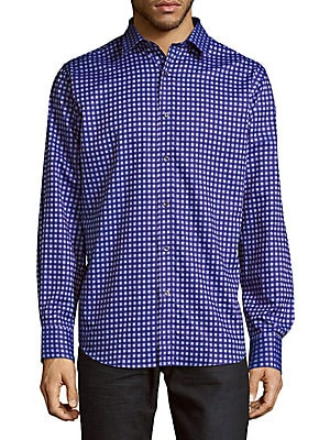Plaid Cotton Casual-Button Down Shirt