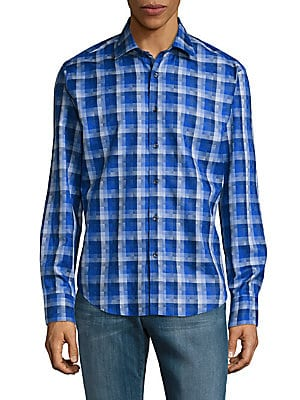 Woven Classic Cotton Button-Down Shirt