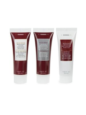 Advanced Brightening Deluxe Wild Rose Trio Skincare Kit KORRES
