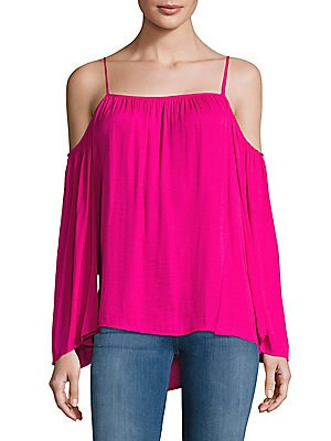 Solid Cold-Shoulder Top