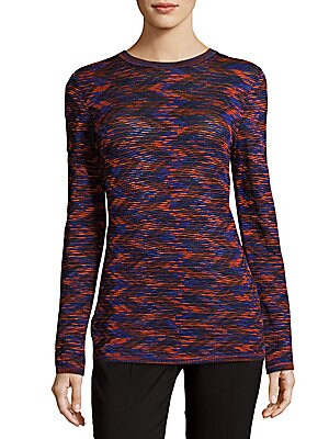 Textured Ribbed Long-Sleeve Top