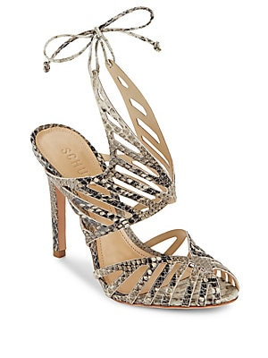 Anamelia Snake-Embossed Shoes