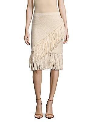 Varah Knit Fringed Skirt