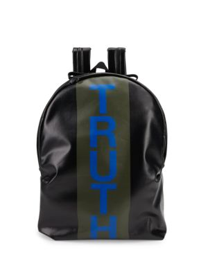 TRUTH STRIPED CANVAS BACKPACK