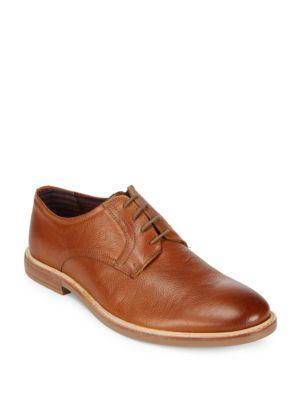Brent Plain Toe Leather Oxfords Ben Sherman