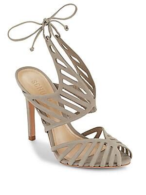 Anamelis Leather Cutout Shoes
