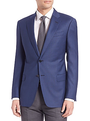 Regular Fit Houndstooth Sportcoat