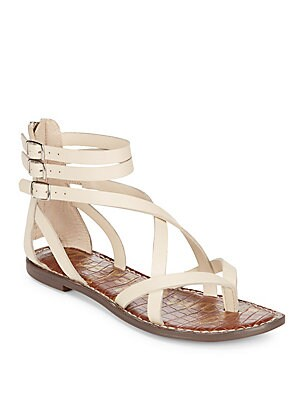Gallagher Leather Flat Sandals