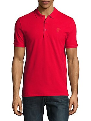 Buttoned Cotton Polo
