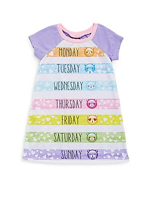 Little Girl's & Girl's Emoji Roundneck Nightgown