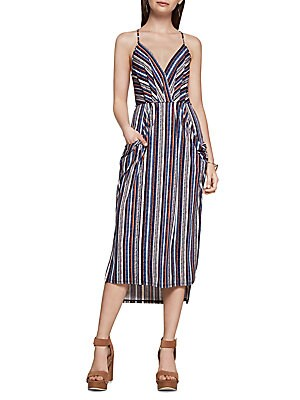 Savannah Stripe-Print Faux Wrap Dress
