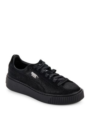 Basket Leather Platform Sneakers