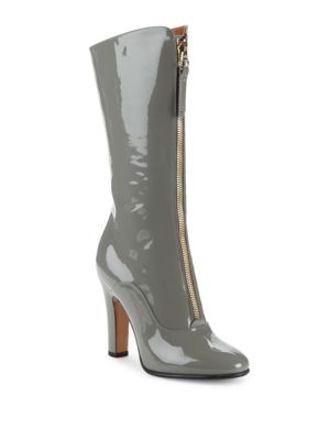 MID-CALF LEATHER ANKLE BOOTS
