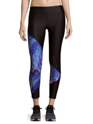 Printed Panel Cropped Legging We Are Handsome