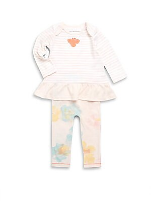 Baby's Two-Piece Striped Dress & Leggings Set