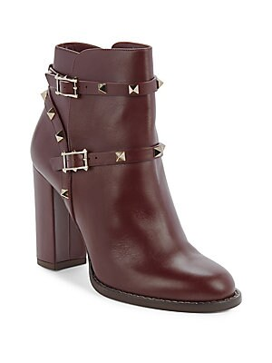 Metal-Studded Ankle Boots