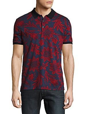 Cotton Floral Polo Shirt