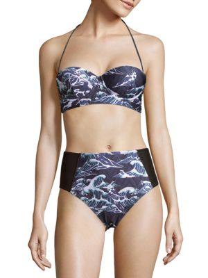 Two-Piece Tropical Designed Bikini We Are Handsome