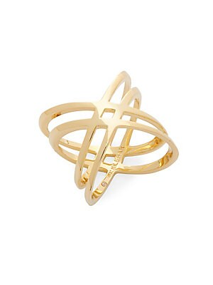 Atomic 14K Goldplated Ring
