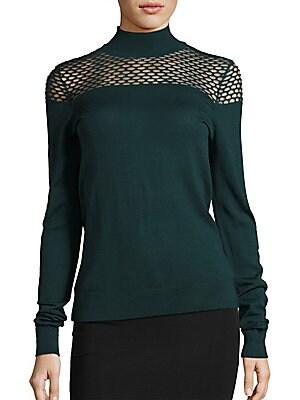 Jules Mesh Inset Sweater