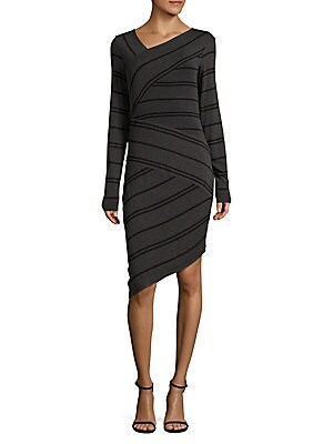 Confused Striped Sheath Dress