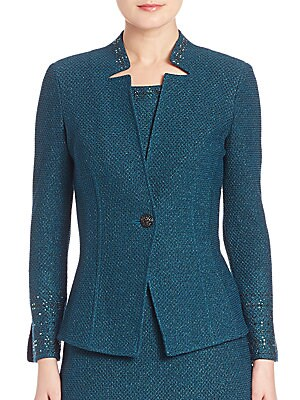 One Button Fitted Jacket