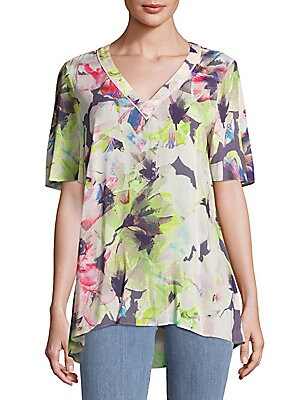 Short-Sleeve Floral Top