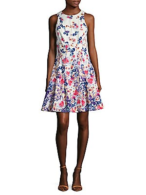 Cotton Printed Fit & Flare Dress
