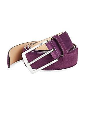 Rectangular Buckle Leather Belt